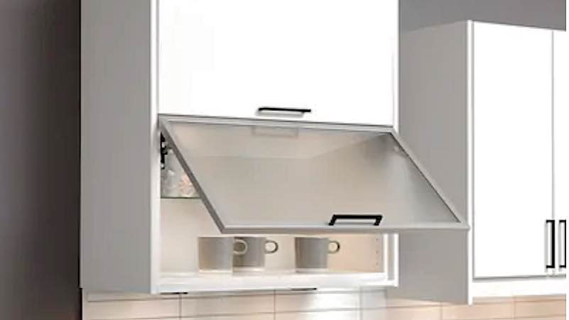 Horizontal Wall Cabinet 92x40, Glass Kitchen Cupboard Doors Uk