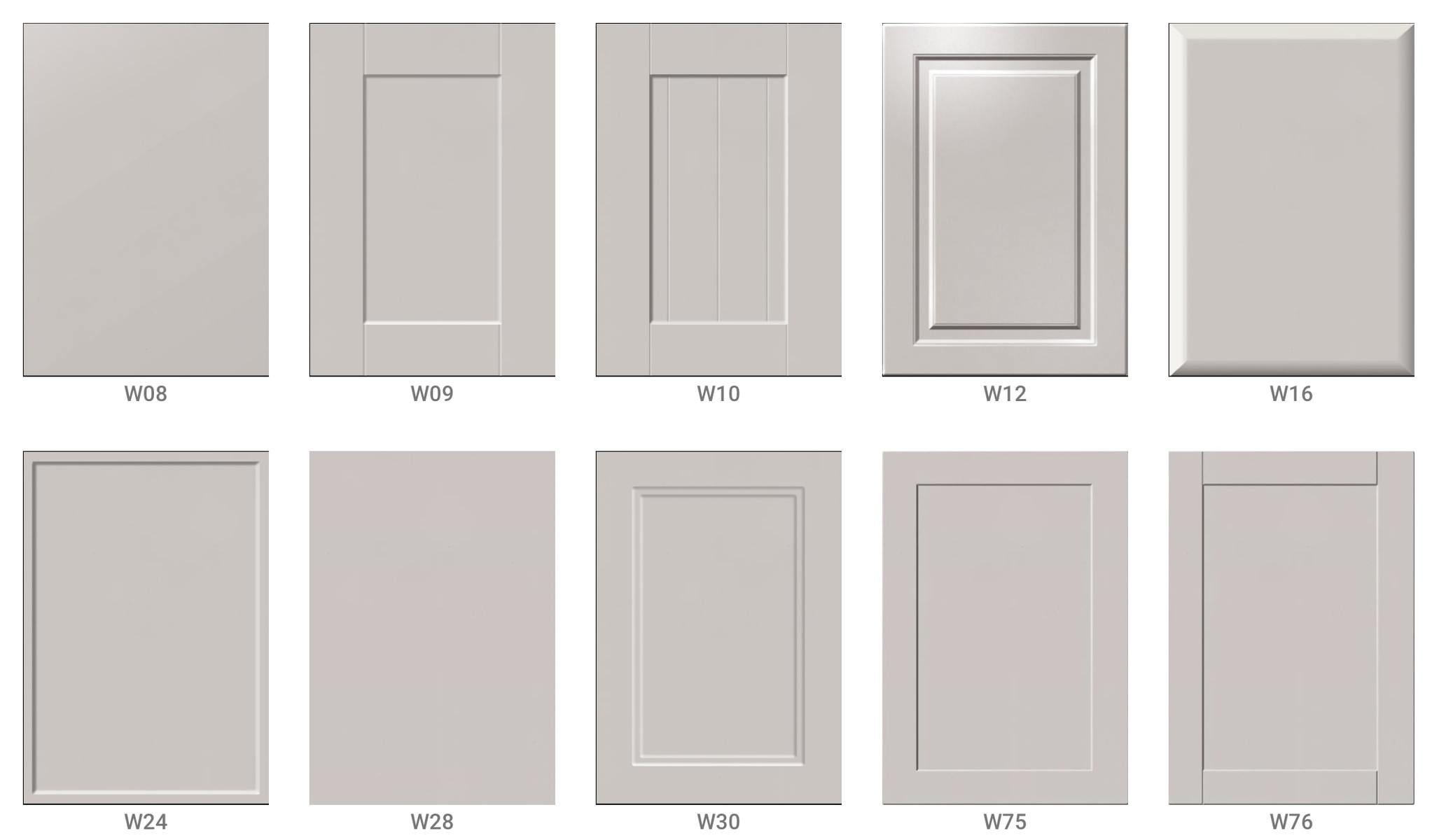 10 styles of kitchen doors for IKEA Faktum