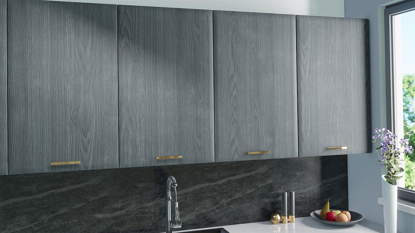 Replacement doors for IKEA Faktum in Grey Wood Look