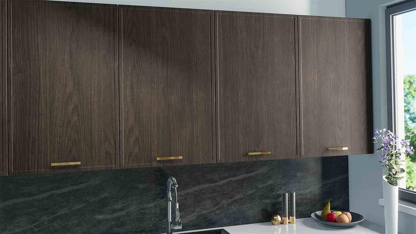 IKEA Faktum replacement doors in dark oak