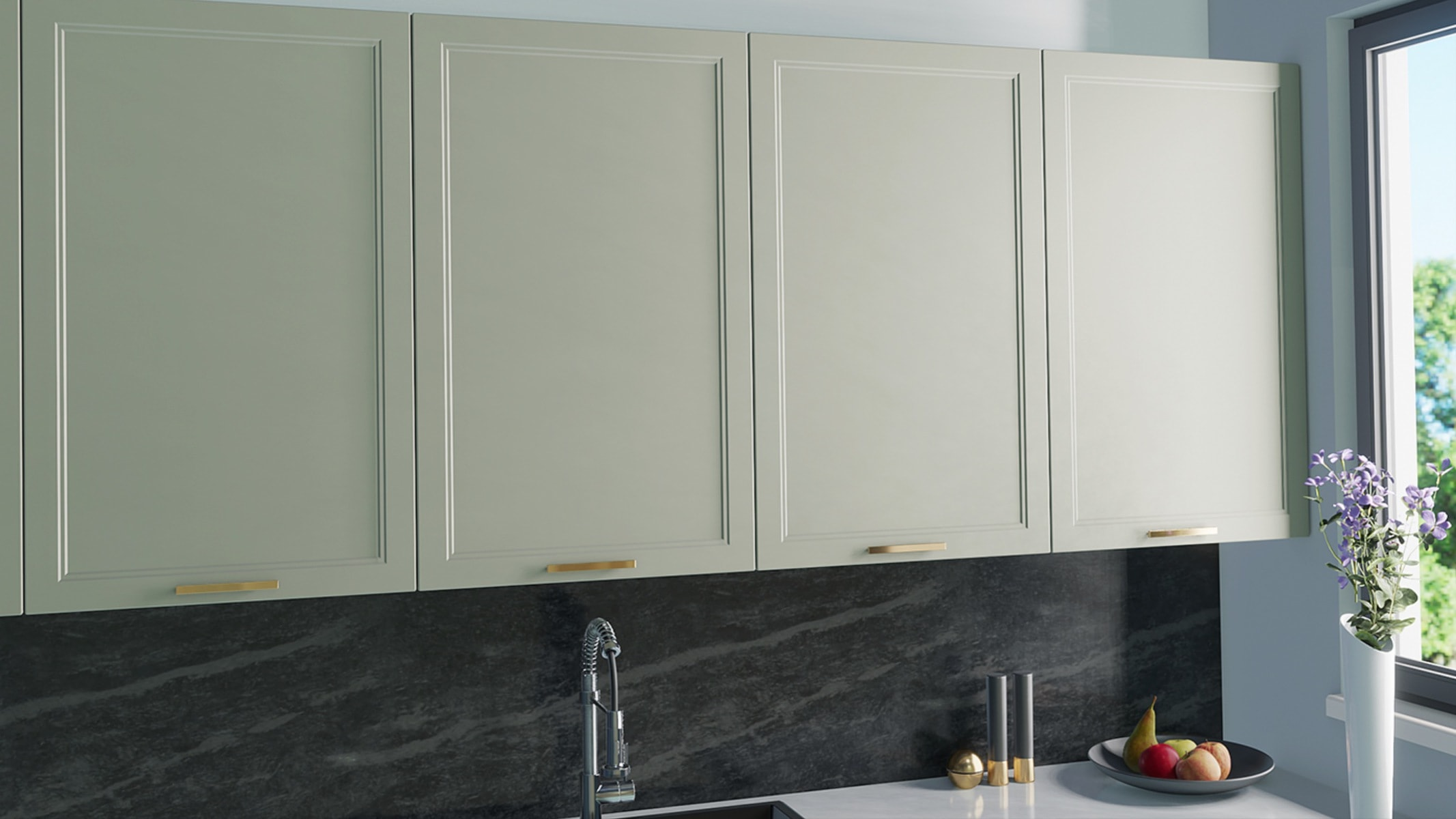 Kitchen Cabinet Doors for IKEA Faktum in Caffe Latte Colour