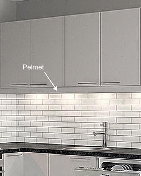 Pelmet for an IKEA Faktum kitchen