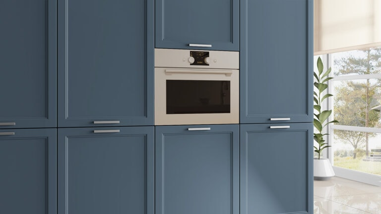 New doors for IKEA Faktum kitchens in Parisian Blue
